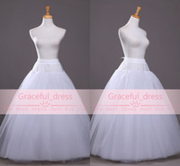Wholesale In Stock Summer Beach White Crinoline For A Line Wedding Dresses Hot Cheap High Quality Underskirt Bridal Accessories Petticoats CPA212
