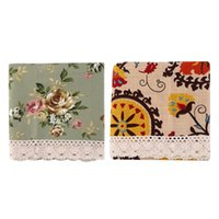 Wholesale Hot Search Crochet Lace Cotton Linen Flower Tablecloth Table Cover Tea Cloth Mat Home