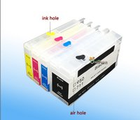 Wholesale High quality for hp711 refill ink cartridge with chip for HP for HP designjet T120 T520 printer