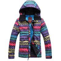 Wholesale Dropshipping Fashion Women Ski coats Professional Mountaineering Ski Jacket Windproof Waterproof Breathable Suit