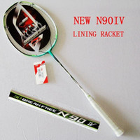 Wholesale The new Lining n90 IV badminton racket racquet racquete full carbon top quality li ning with string and N90 racket A5 A5
