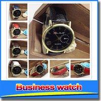 Wholesale 2015 Fashion colors Business Men Women Watch Date Time Quartz Watches Men Leather Brand WristWatch Men s Watches