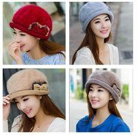 big beret hats - 2016 European Winter Christmas Children Big Girls Hats Earflap Beret Faux Fur Warm Accessories Caps Hats Girl Fashion Cap K5965