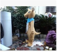 belly the movie - 2016 A large number of order hot sell forest animals kangaroo mascot costume brown body white belly pocket the kangaroo mascot costume