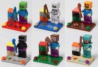Wholesale Minecraft JJ styles Enderman creeper Mooshroom Action Figures DIY Building Blocks Bricks without package box B001