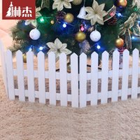Wholesale Lin Jie Christmas tree decorative fence fence long CM high wooden fence wooden fence white wooden fence