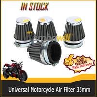 Wholesale Universal Motorcycle Air Filter Cleaner mm Steel Mesh Racing Conical Clamp On Fit For Honda Kawasaki Suzuki Yamaha MBK Benelli Aprilia