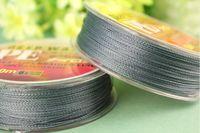 Wholesale low price M braided grey color Dyneema Fiber PE thread fishing line