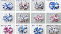 Wholesale 50pcs quot frozen Bowknot hair accessories kids bows flower baby girls headband flower Headwear boutique ribbon cute hair bows clip HD3217