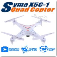 Wholesale EP pioneer Upgraded Version SYMA X5C Ghz Axis Gyro Remote Control RC Helicopter Explorers Quadcopter Toys Drone with HD Camera