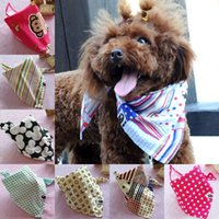 Wholesale 2015 new models of colorful triangle bibs pet dog scarves scarf clothes