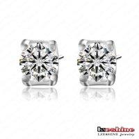 diamond earrings - Fashion Earrings Beautiful Round Cut Swiss Cubic Zirconia Diamond Earrings New Zircon Jewelry Wedding Stud Earrings CER0024 B