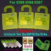 Wholesale NEWEST R SIM10 plus RSIM R SIM R SIM10 For iphone S plus S C G S IOS9 IOS GSM CDMA WCDMA G G G unlock sim R