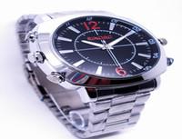 enregistrement vocal Horloge numérique caméra montre-bracelet étanche métal caméra HD 1080P espion caché 16GB Mini caméscope DVR USB Haute Qualité