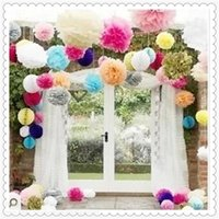 beautiful environment - Tissue Paper Flowers Fashion Wedding Waterproof and Environment Protection Decorations Hot Party Beautiful and More Color Paper Flower Ball