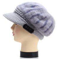 Wholesale Fashion Bluetooth Earphone Hat Winter Outdoor Warm Wireless Headphone with Mic Women Gifts Skullies Beanies Handfree Headset Cap DHL PA3083