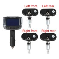 Wholesale TPMS Wireless Tire Pressure Monitoring System LCD Display Tire Detection System with Built in Sensors CEC_704