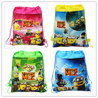 Wholesale Despicable Me Minion Baby Backpack Bags Cute Children Kids Boys Girls Non woven Shopping Bags Toy School Bags