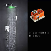 Wholesale Fashion led shower conceal wall mounted inches brass chrome full set led shower
