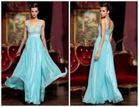 Wholesale Vestidos Formales Sexy Cheap Evening Dresses Sweetheart Backless Illusion Lace Applique Crystals Beads Floor Length A Line Prom Dresses