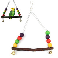 aviaries bird cages - New Wooden Bird Parrot Swing Toy Parakeet Cockatiel Canary Finch Budgie Cage Aviary