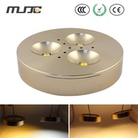 Cheap MJJC 12v 3w led under cabinet lightings golden shell ceiling light used for kitchen free shipping