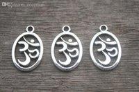 om pendant - OM Charms Antique Tibetan Silver Tone side Yoga Symbol charm Pendants x14mm