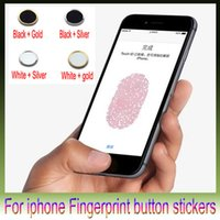 Wholesale Home Button Sticker Support Fingerprint Indentification System for iphone6 plus iphone5s ipad min ipad air Touch ID Button