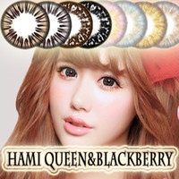 cosmetic contact lenses - Hami Queen Big Diameter Black Fruitcolor Candy Color Contact Lenses Lens prescription Lens Party Date Cosmetic Eye Lens