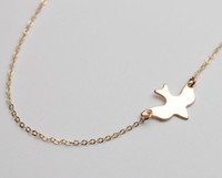 baby miao - 10PCS N107 Gold Silver Tiny Soar Flying Bird Necklace Peace Dove Necklace Little Swallow Baby Bird Necklaces Abstract Necklaces