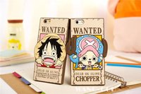 apple want - Cute D Cartoon One Piece OP Candies Wanted Monkey Luffy Chopper Soft Silicone Case Cover For Iphone6 G inch