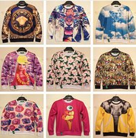 Wholesale Hot European and American popular D clothing both sides print casual sweatshirt men hoodies pullovers