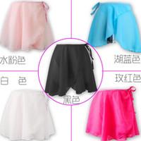 Wholesale Girls Clothes Summer Girl Solid Latin Dance Short Skirt Kids Ballet Chiffon Skirts Children Shorts Dancer Costumes Color I4023
