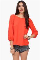 plain long sleeve - Women Girls Fashion Casual Plain Chiffon Shirt Long Sleeve Loose Tops Blouses Summer Casual Vest Plus Size Shirt