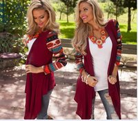 aztec shirt - Hot women Cardigan sweaters Female Long Aztec sleeve Asymmetrical Knitted Sweater casual Cardigans Sweaters Air conditioning Shirts