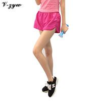 Wholesale High Quality Women Shorts Leisure Elastic Waist Cheap Female Casual Lady Running Short Feminino Loose Cotton Side Split Yoga