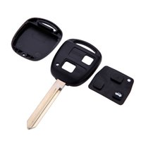 Wholesale 2015 Real Top Fashion Car Uncut Replacement Blank Remote Key Shell Case for Toyota Avensis Yaris Auris Buttons Cover with Button Pad