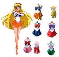 Wholesale styles Sailor Moon Cosplay Costume Uniform Fancy Dress Up Sango Minako amp Sailor Neptune amp Sailor Mars Full Set