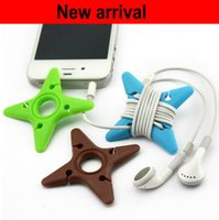Wholesale Silicone Rubber Earphone Cord MP3 MP4 player Cable Winder Holder Organizer