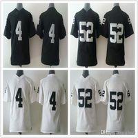 Cheap Kid's New Arrival OAK #4,#52 White Black American Football Jerseys Allow Mix Order