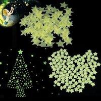 glow in the dark stars - Plastic D Stars Glow In The Dark Fluorescent Wall Stickers New pieces