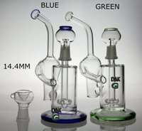 glass domes - New recycler glass bong water pipe glass vapor rig with dome and nail green and blue color mm joint