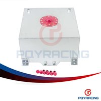 gallon cap - PQY STORE GALLON L RACING ALUMINUM GAS FUEL CELL TANK WITH BILLET RED CAP AN10 FUEL SURGE TANK PQY TK71