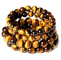 bangle tigers - Tiger Eye Love Brand Buddha Bracelets Bangles Elastic Rope Chain DIY Natural Stone Friendship Bracelets For Women Men Jewelry