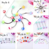 Wholesale New Arrival boby jewelry Medical Titanium Nose Hoop Nose Rings Body Piercing Jewelry style Acrylic stainless steel Nose Rings