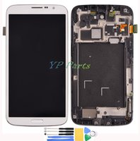 Cheap Wholesale-White LCD For Samsung Galaxy Mega 6.3 i9200 LCD Display Touch Screen Digitizer Assembly With Tools + Free shipping