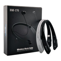 Wholesale BM Sports Neckband Wireless Stereo Headset Bluetooth V4 Earphone In ear headphone For iPhone LG Samsung New HBS