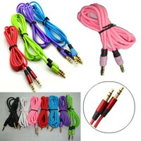 Wholesale Aux Cable Male to Male M M mm Audio Stereo Cord for iPhone s s plus Samsung Galaxy s3 s4 s5 Note iPod MP3