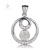 Wholesale Promotion Classic S White Cubic Zirconia Fashion Favourite Best Sellers Time limited discount sterling Silver Pendants