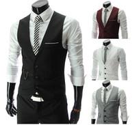 blazer jacket men - Men Vests Outerwear Mens vest Man Casual Suits Slim Fit Stylish Short Coats Suit Blazer Jackets Coats Korean wedding Mens V neck vest